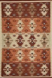 brown aztec hand woven kilim dhurrie