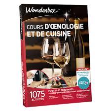 Coffret Cadeau Wonderbox Cours Dœnologie Et De Cuisine