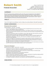 Example Of Accountant Resumes Financial Accountant Resume Samples Qwikresume