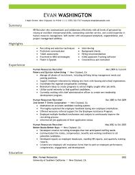 employment resume resume example