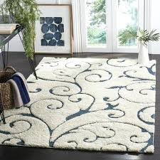 safavieh florida scrollwork cream blue area rug 8 6 x 12 7x9 area rugs 7