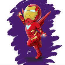 Chibi Iron Man / art by @icedragon.art_cms #chibiironman #chibi  #marvelchibi #ironman #kawaii