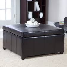 coffee table awesome black square minimalist leather coffee table with storage ottomans idea which can used