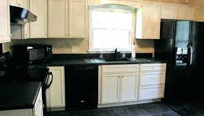 kitchens with white cabinets and black appliances. White Kitchen Cabinets Black Appliances Dark With Pictures Of . Kitchens And S