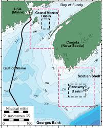 Gulf Of Maine Chart Bathymetric M Chart Illustrating The Gulf Of Maine The