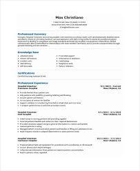 Volunteer Work For Resumes Resume Template With Volunteer Experience 10 Work Resume Templates