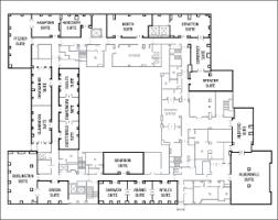 hotel floor plan with dimensions in meters