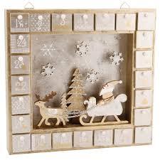 gold silver wooden window advent calendar box