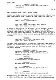 Movie Script Example Movie Script Dialogue Format Essays Your Works Library