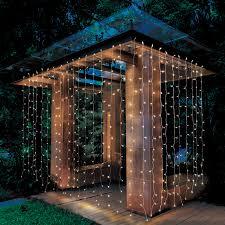 Canopy Light Set Patio Garden Led Curtain Lights Outdoor Gardens