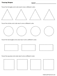 Preschool Printable Worksheets Free Download best 25 tracing ...