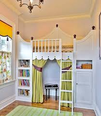 loft bed with play area below