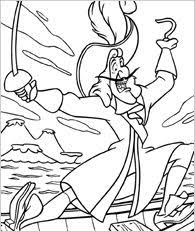 Small Picture Captain Hook portrait Coloring page DISNEY coloring pages