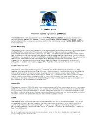 Music Contract Music Contract Templates Free Word Performance Template