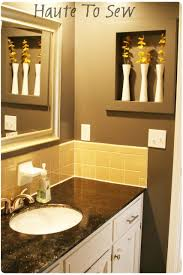 Yellow bathroom color ideas Decorating Ideas Bathroom Makeover Yellow Gray Color Scheme Cabinets Matt The Painter Bathroom Makeover Yellow Gray Color Scheme Cabinets Yellow