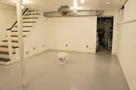 Eggshell White Paint Basement Wall