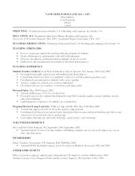 Teaching Objectives For Resume Kindergarten Teacher Resume Special