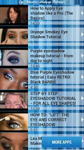 eye shadow makeup tutorials 1 9 screenshots