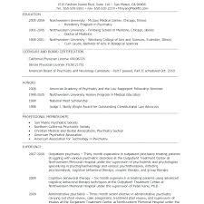 Forensic Psychologist Job Description Two Page Resumes One Page