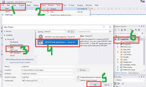 how to create in asp net