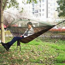 summer outdoor hammock with mosquito net portable multi functional practical camping 2 6x1 4m