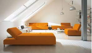 orange living room furniture. Sofa In Living Room Orange Bed Book Case Desk Vase Furniture