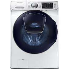 Samsung AddWash 4.5-cu ft High-Efficiency Stackable Front-Load Washer (White