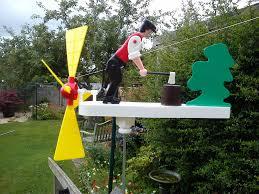 wood chopping whirligig windmill whirlygig garden windmill wind spinner