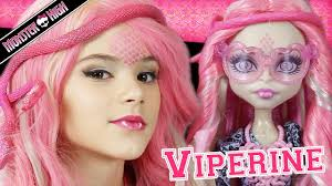 monster high viperine gorgon doll makeup tutorial for or cosplay kittiesmama