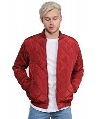 Men's Warm Casual Classic Quilted Padded Bomber Flight Jacket Coat ... & Men's Classic Quilted Padded Bomber Jacket Adamdwight.com