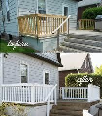 Painting Deck Railing White