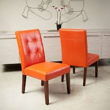 these leather dining chairs are a great fit for an elegant dining room setting made