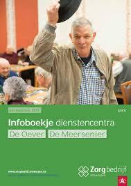 Infoboekje Dienstencentra De Oever En De Meersenier By Zorgbedrijf