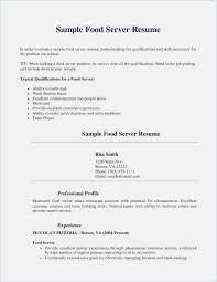 Sample Food Server Resumes Server Resume Skills Examples Inventions Of Spring
