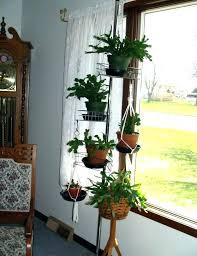 hanging plant stand indoor stands terrarium design outdoor hanger wrought iron holders diy