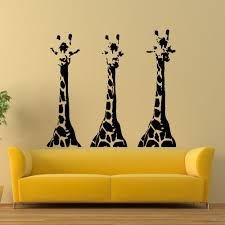 Small Picture Wall Decals Giraffe Animals Jungle Safari African Kids Children