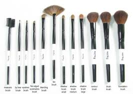 cosmetic brush set. professional studio quality 12 piece natural cosmetic makeup brush brushes set kit with leather pouch case