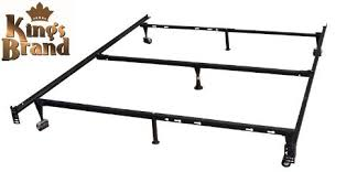 Kings Brand Furniture 7-Leg Adjustable Metal Bed Frame with Center ...