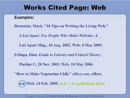 Ppt Mla 2009 Formatting And Style Guide Part 2 Works Cited Page