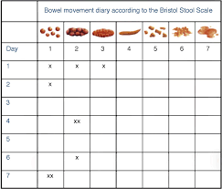 Stool Movement Chart Bowel Movement Chart World Of Reference