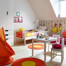 cool kids bedrooms. Kids Rooms, A Colourful Childrens Room With White Bed Made Quilt Cover Cool Bedrooms
