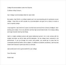 Recommendation Letter From Employer For Student Free 20 College Recommendation Letters In Pdf Word