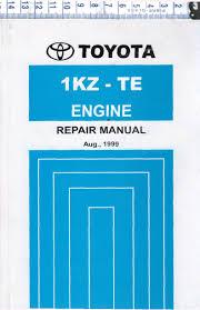 Toyota 1KZ-TE Diesel engine repair workshop manual NEW - Landcruiser ...