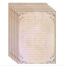 Lined Stationery Paper Amazing IMagicoo 48 Vintage Retro Lined Writing Stationery Paper Pad Letter