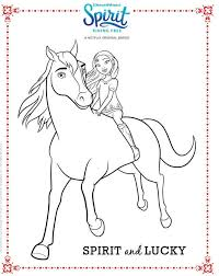 Spirit Riding Free Coloring Page Spirit And Lucky Coloring For
