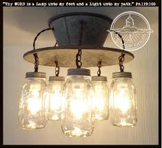 An Exclusive Lamp Goods' Mason Jar LIGHT 5-Light