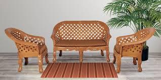 luxura plastic sofa set in pear