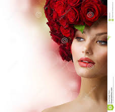 Red Hair Style girl with red roses hairstyle stock images image 25452254 6530 by stevesalt.us