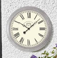 biarritz garden outside wall clock french style indoor or outdoor clock