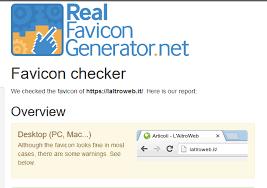 il miglior modo per creare una favicon real favicon generator